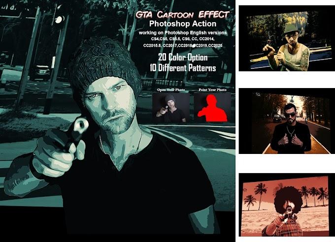 GTA Cartoon Effect[Photoshop][Action][5485273]