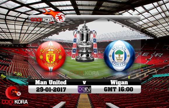مشاهدة مباراة مانشستر يونايتد وويجان اليوم 29-1-2017 في كأس الإتحاد الإنجليزي