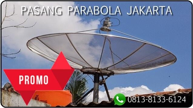 Pasang parabola Jakarta, memasang antena parabola, parabola mini