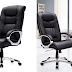 PU Leather Office Chair with Arm, High-Back Computer Chair