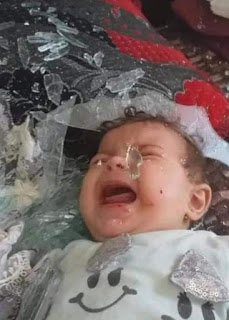 Baby killed by Israeli state terrorists