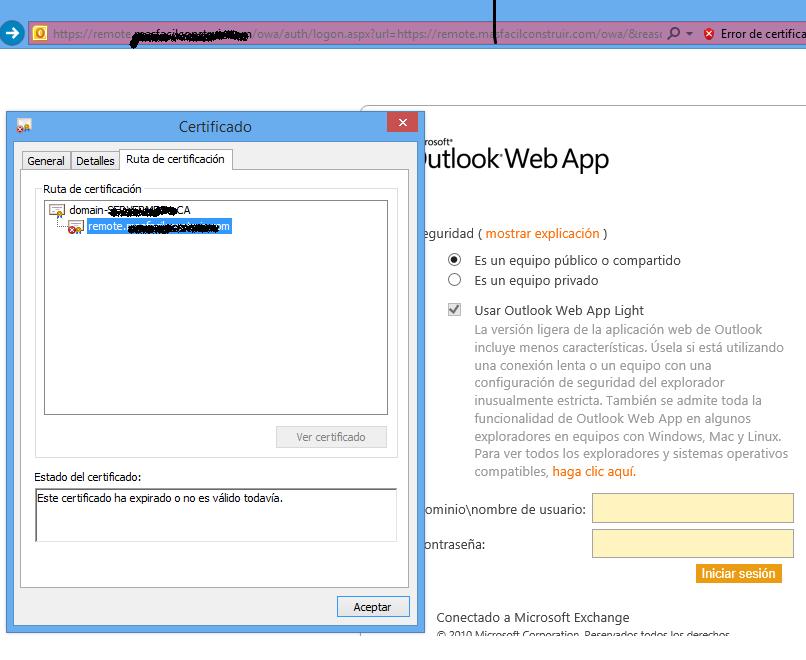 El Blog De Badboy Renew Expired Exchange Outlook Web App