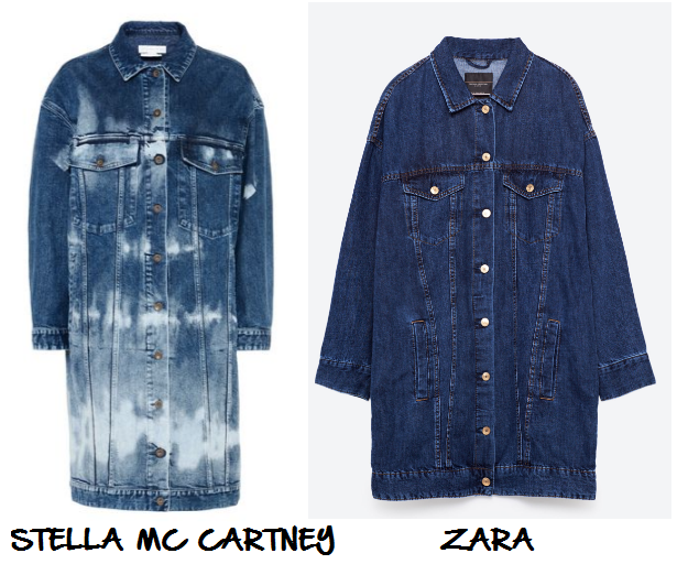 clones 2016 chaqueta larga denim stella zara