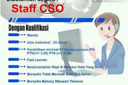 Lowongan Kerja Sijunjung Oktober 2017: Staff  CSO