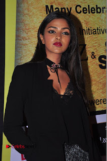 Actress Amala Paul Stills in Black Dress at South Scope Lifestyle Awards 2016 Red Carpet  0016.JPG