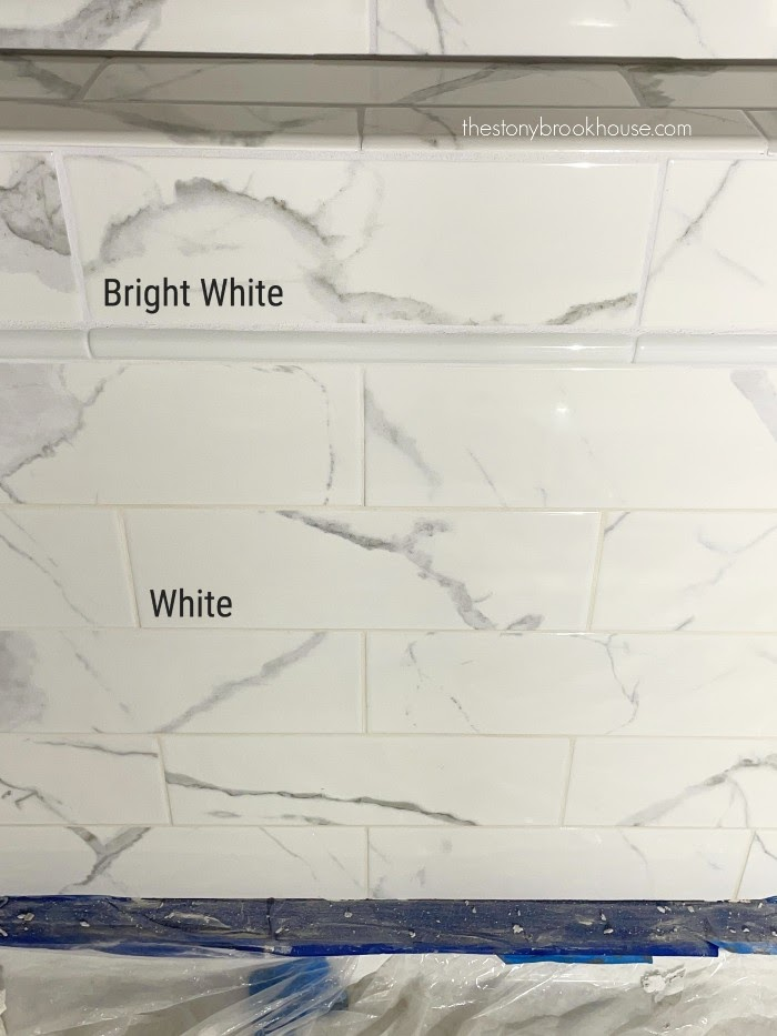 Not all white grouts are true white