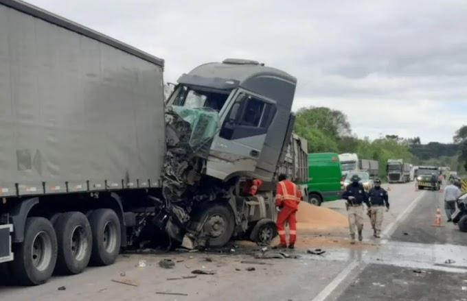 Motorista que provocou acidente com 8 veículos na Rodovia do Xisto disse que dormiu no volante