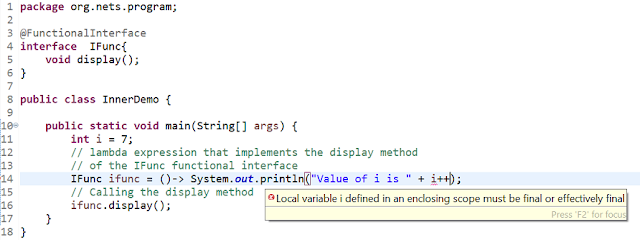 Effectively final in Java