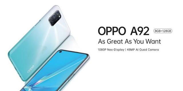 oppo a92 spek, spesifikasi, harga lengkap