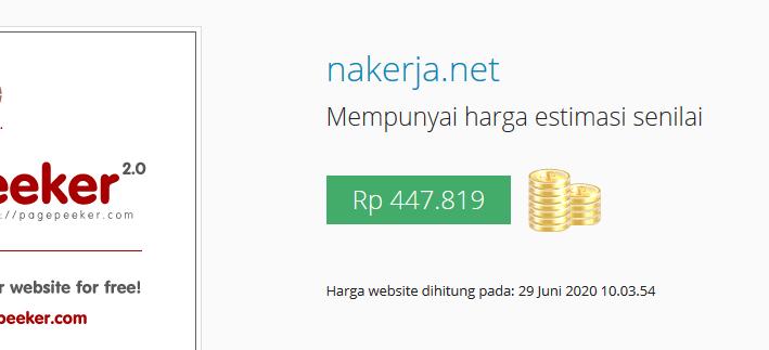Cara cek harga sebuah website