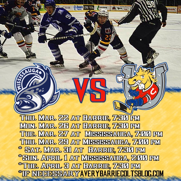 Round 1 Playoff Preview - Barrie Colts VS Mississauga Steelheads. #OHL