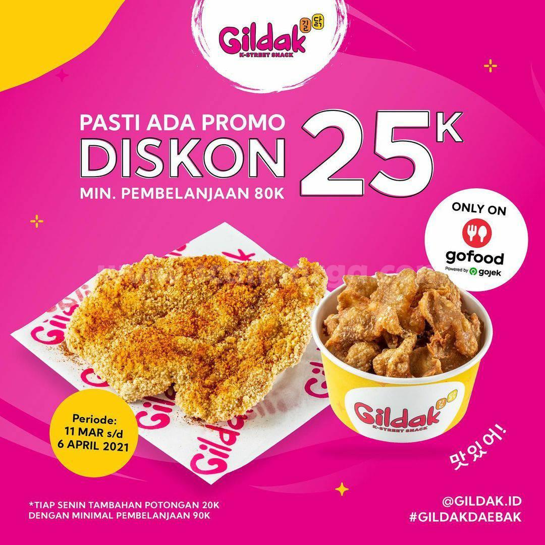 GILDAK Pasti ADA Promo DISKON 25K via aplikasi GOFOOD