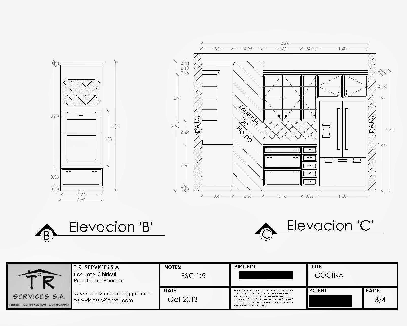 T.R. Services S.A.: Kitchen Plans