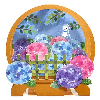 Hydrangea Blossoms Pop Up Decorative Greeting Card