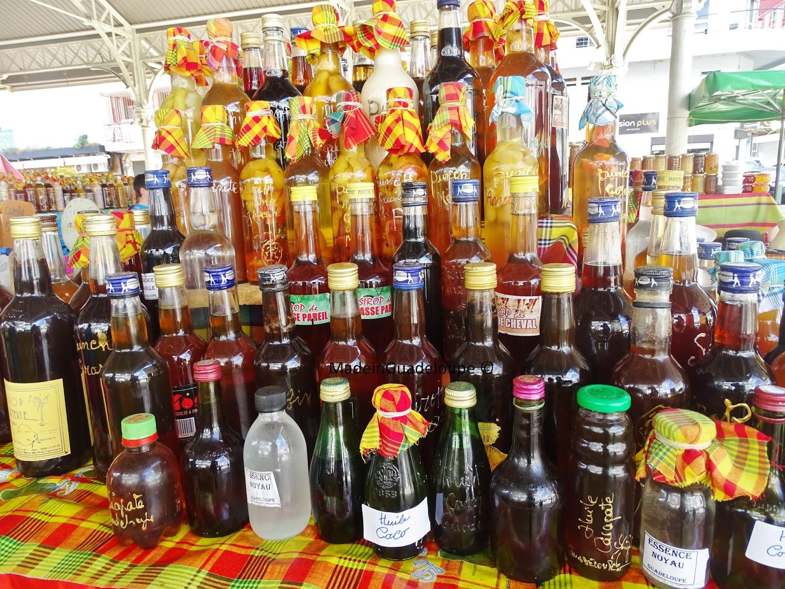bouteilles de rhums marché aux epices