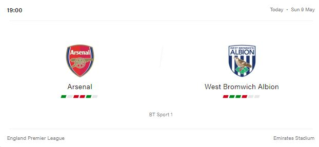 Arsenal vs West Bromwich Albion Preview and Prediction 2021