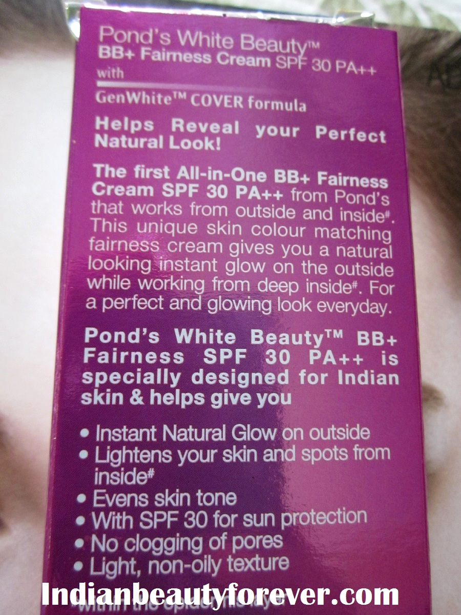 Ponds all in one fairness BB cream Review and swatches