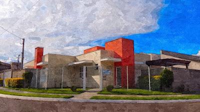 Arte digital sobre imagem da sede da Editora Vivalendo e escritório do arquiteto Jean Tosetto.