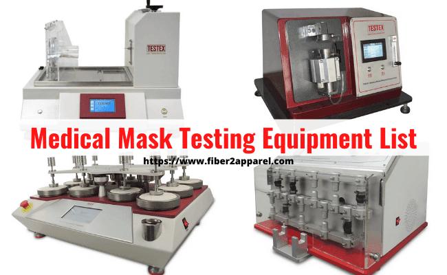 Medical mask testing equipment