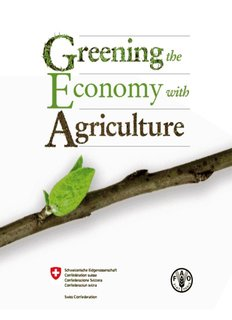Greening the Economy with Agriculture - Food and Agriculture Book PDF