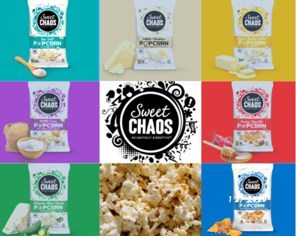 Variety of Sweet Chaos popcorn