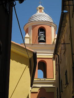 La Serra, Liguria, church campanile.
