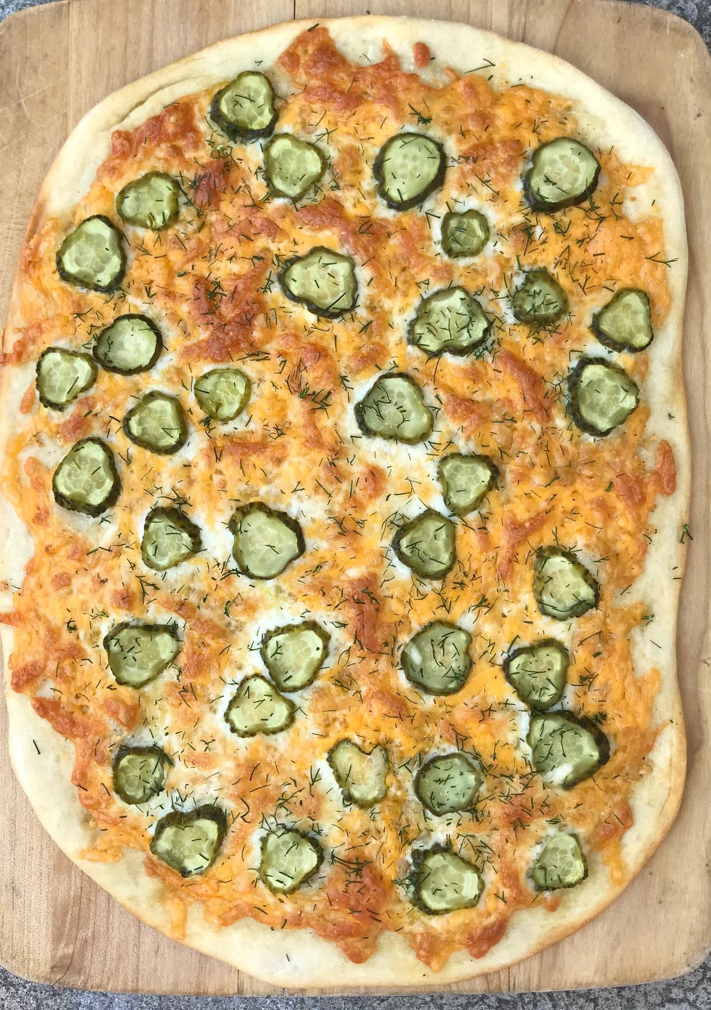 Garlic Dill Pickle Pizza