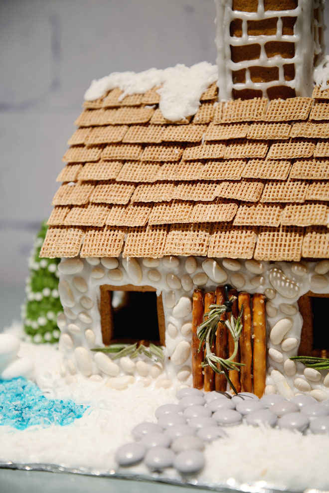 english cottage gingerbread house | shredded wheat roof | RamblingRenovators.ca