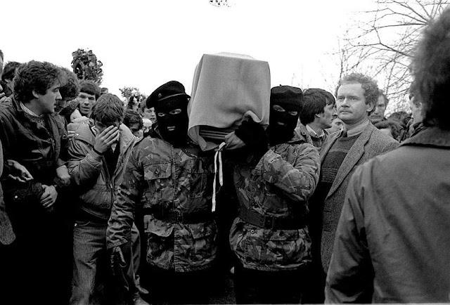 Funeral of IRA man Brendan Burns, 1988