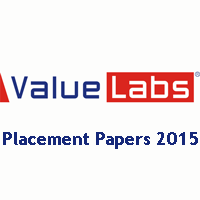 Value Labs Placement Papers 2015-2016