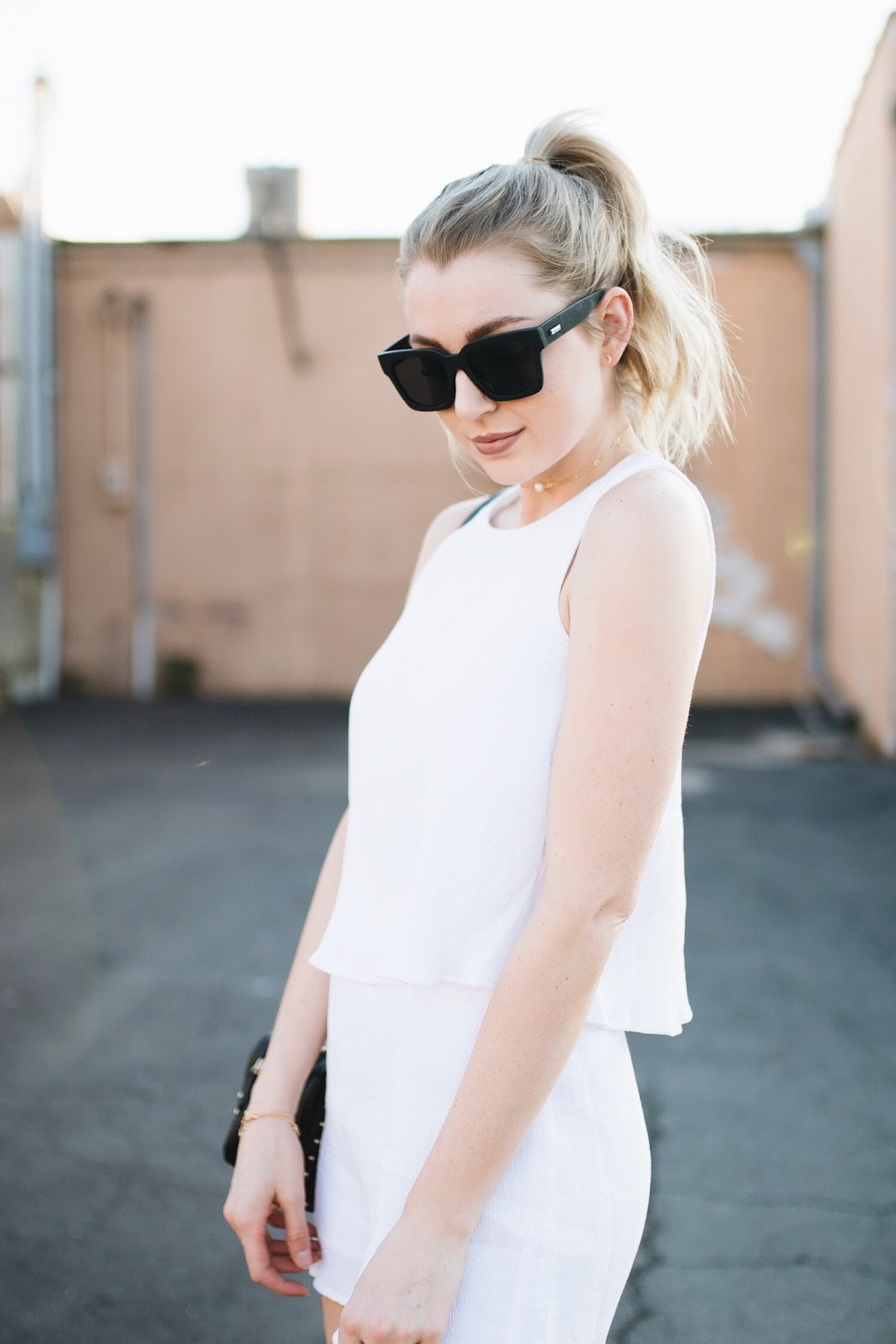 "Le Specs ""Weekend Riot"" black sunglasses 