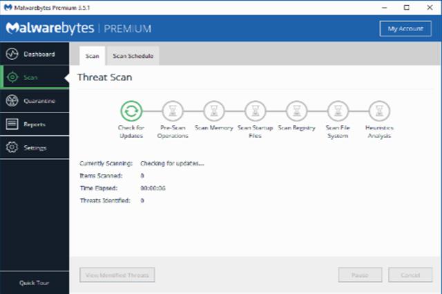 تحميل برنامج الحماية من الفيروسات والبرامج الخبيثة وبرامج التجسس Malwarebytes Premium