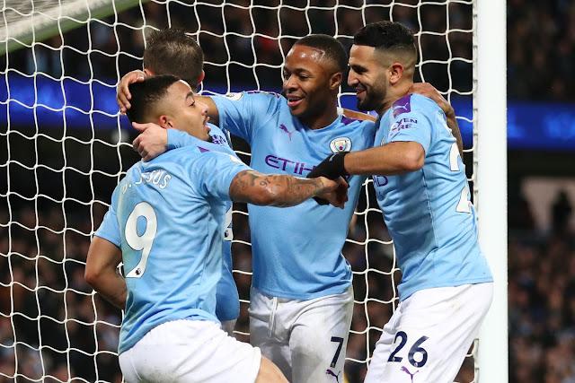 Video Cuplikan Gol: Manchester City 3-1 Leicester City (Premier League)