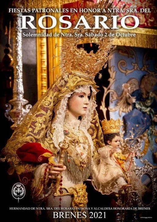 Cartel de las Fiestas Patronales de la Señora de Rosario 2021 de Brenes
