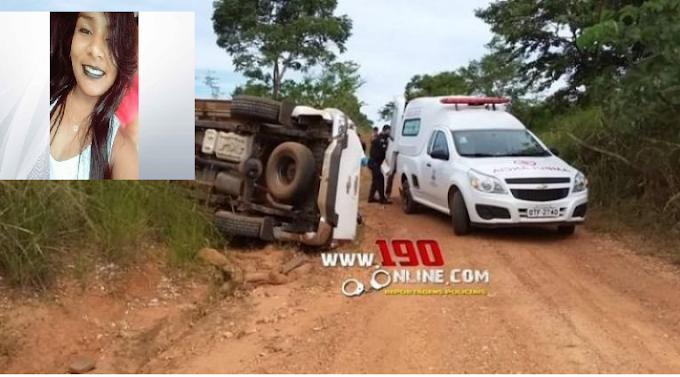 Jovem de 19 anos morre após caminhonete  capotar no interior de Rondônia