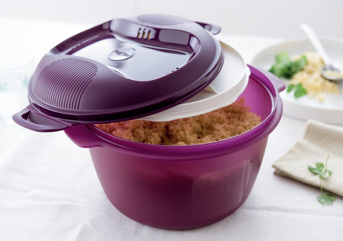 Como usar o micro arroz receitas e dicas tupperware em for Como cocinar arroz en microondas