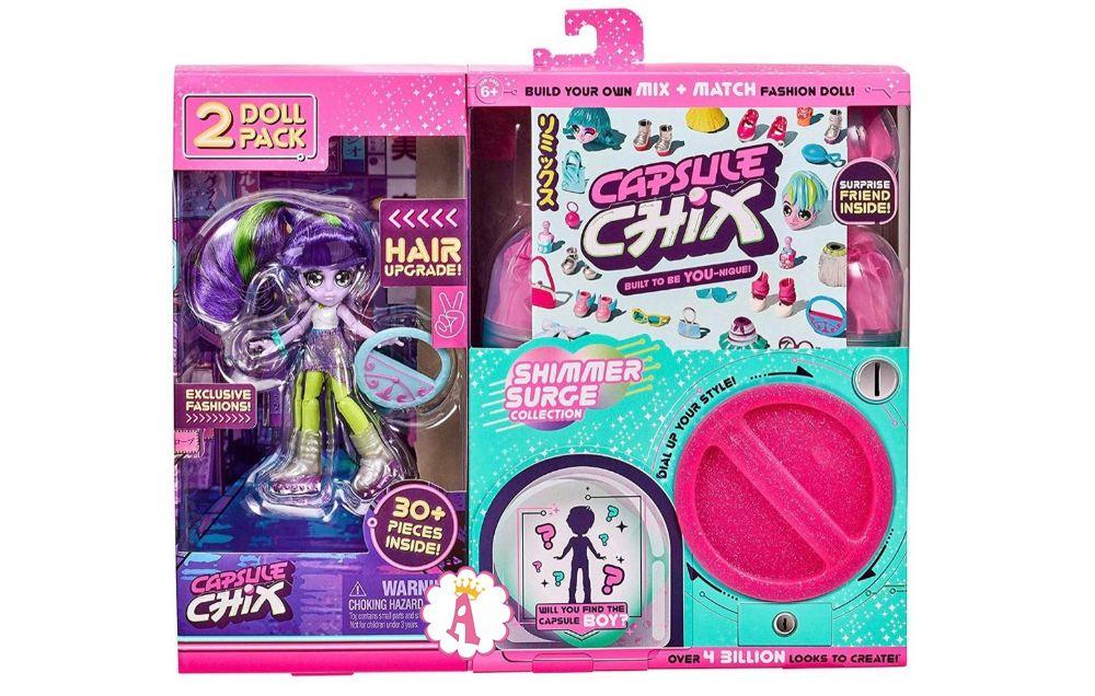 Новые куклы для девочек Капсул Чикс в розовой коробке конструктор 2020 года
