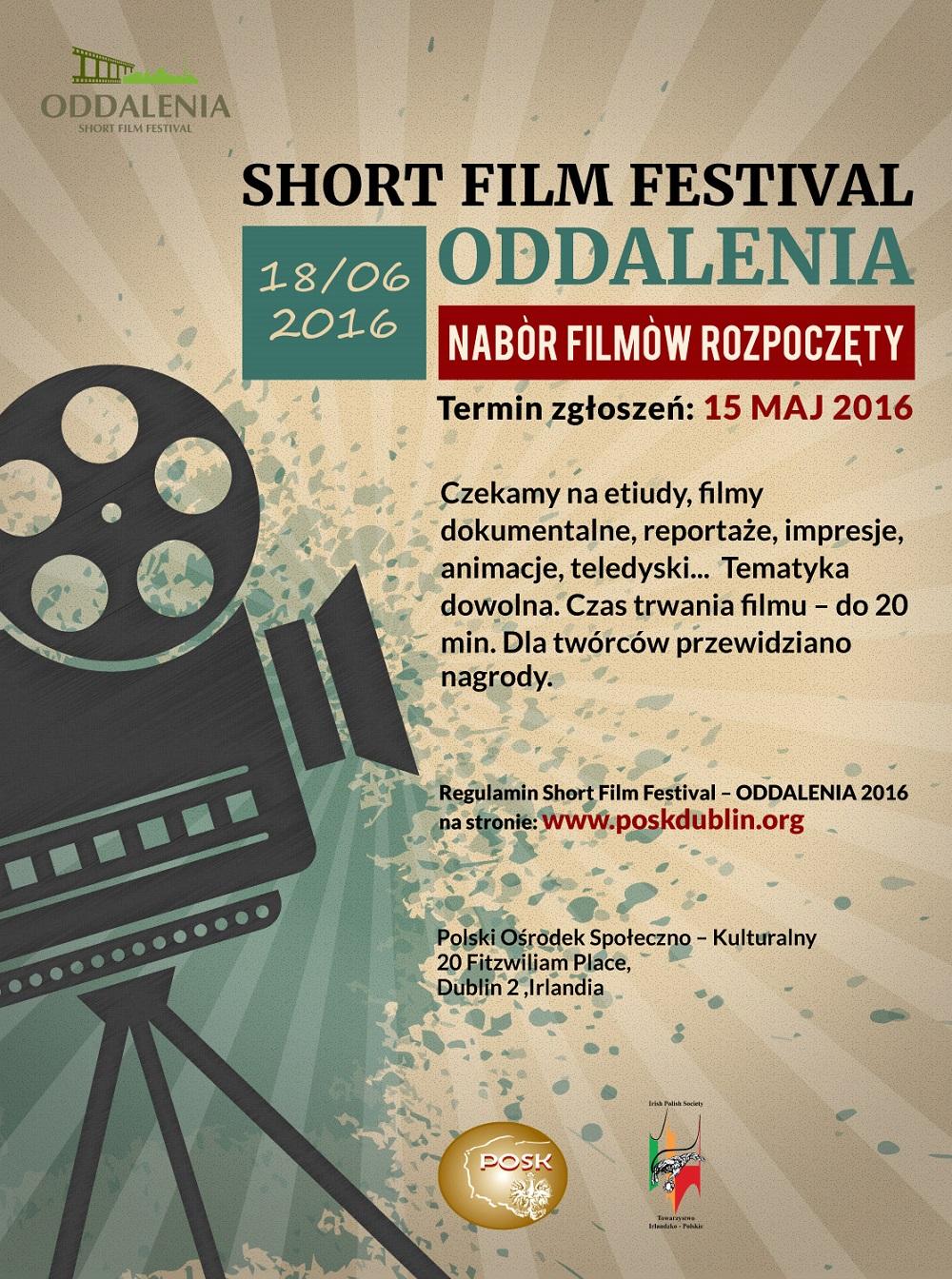 Oddalenia 2016 - SHORT FILM FESTIVAL