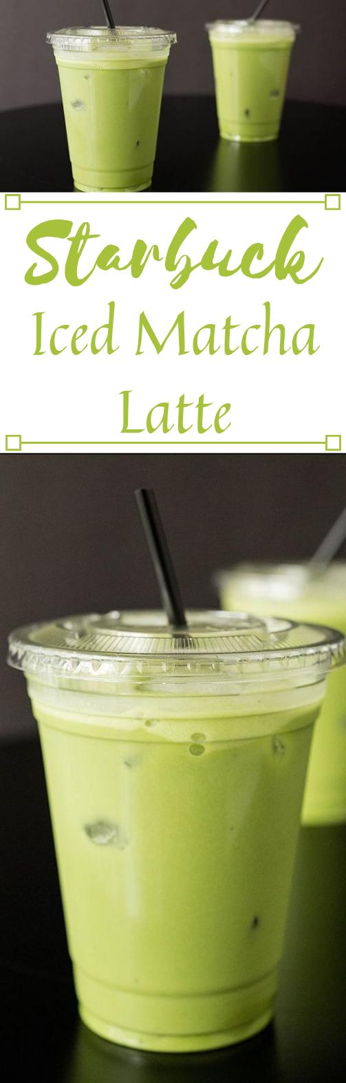 Copycat Starbucks Iced Matcha Latte Recipe #healthydrink #cocktail #starbucks #icecream #smoothie