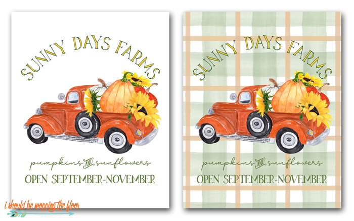 Pumpkin Farm Printables
