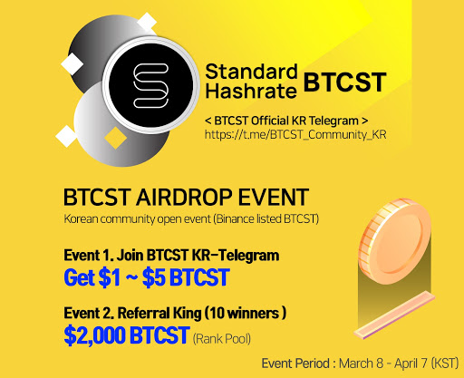 BTCST airdrop on Binance