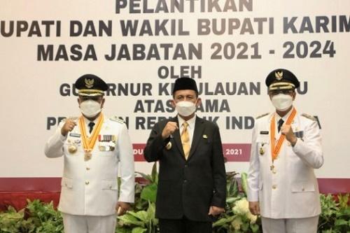 "Lantik Bupati Tanjung Balai Karimun, Gubernur Kepri: ""Wujudkan Kesejahteraan Masyarakat"""