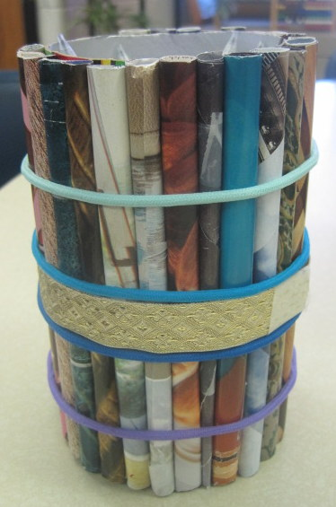Pencil Holders From Recycled Materials Inspired Class