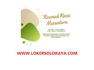 Loker Solo Bulan Mei 2021 di Roemah Rasa Nusantara