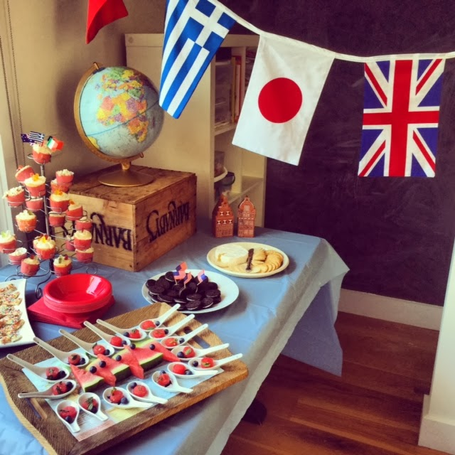 An 'around The World' Themed Birthday Party