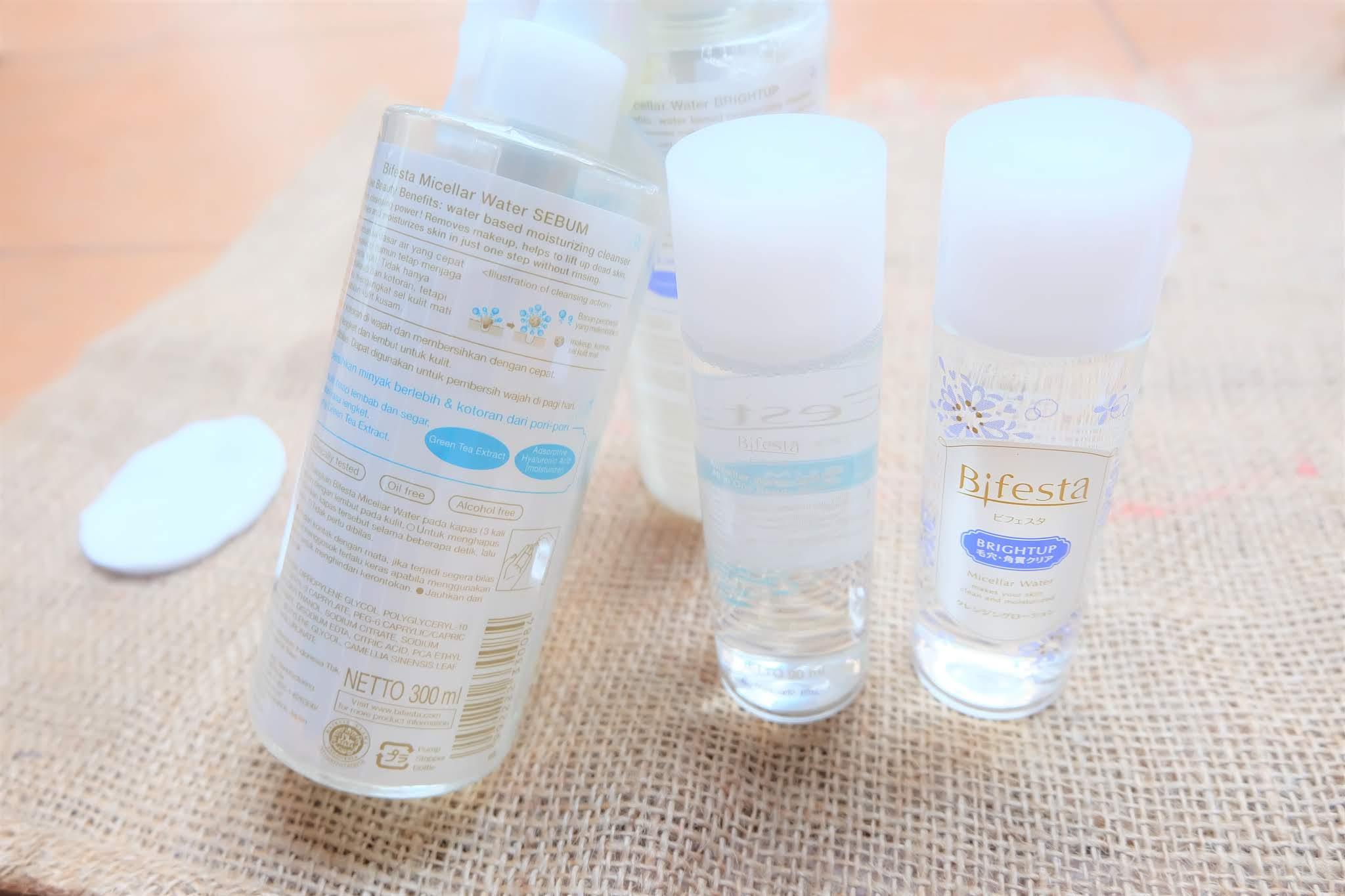Review: Bifesta Micellar Water Brightup dan Sebum
