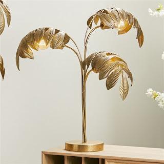 lampara de sobre mesa laton oro