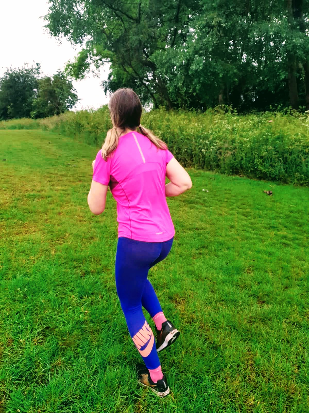 Running In The Rain And Some Rained On Flowers