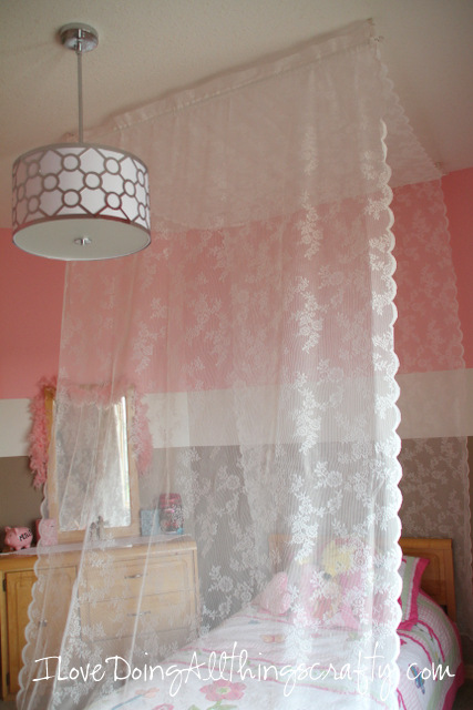 Maia's Room Make Over - DIY Canopy Bed - Part 5
