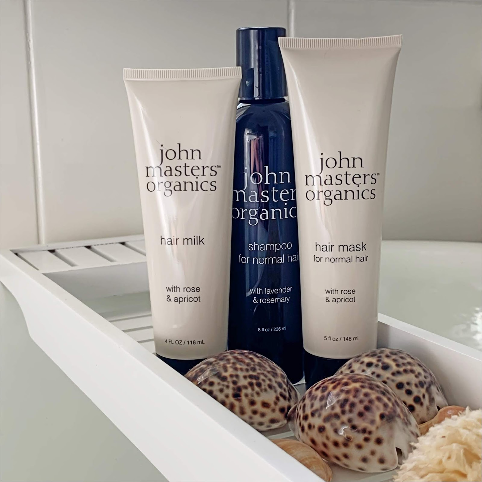 my midlife fashion, john masters organics shampoo, john masters organics hair milk, john masters organics hair mask